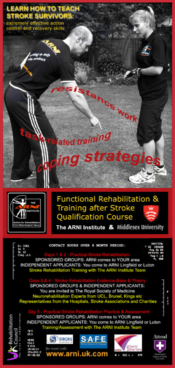 flyer 2016 - 5-day Accreditation for Therapists and Instructors - Stroke Exercise Training