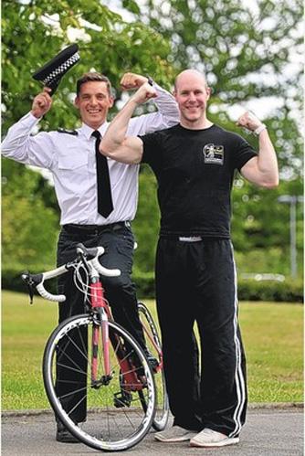 tmp PAUL AND TOM copy 846902072 - Paul Baker - Iron Man Triathlon - Stroke Exercise Training