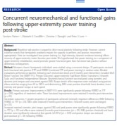 upper extremity power training - ARNI Programme - Stroke Exercise Training