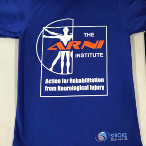 ARNI Blue Stroke Rehab T shirt 300x300 - ARNI Exclusive Training T-shirt - Stroke Exercise Training