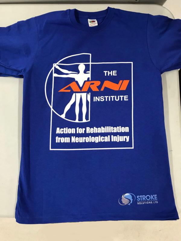 ARNI Blue Stroke Rehab T shirt 600x800 - ARNI Exclusive Training T-shirt - Stroke Exercise Training