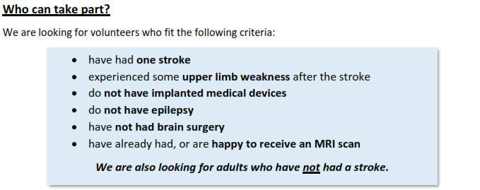 stroke criteria arni rehab ucl - Can Brain Stimulation Help your Arm after Stroke? - Stroke Exercise Training