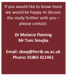 Oxford flyer 5 - Quality or Quantity of Sleep: Which Is Better for Rehab? - Stroke Exercise Training