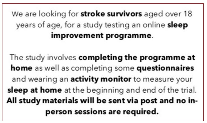 2021 03 02 16 14 34 - OXFORD UNIVERSITY RESEARCH TO IMPROVE THE SLEEP OF STROKE SURVIVORS - Stroke Exercise Training