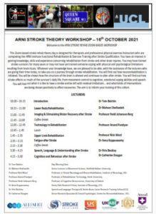 ARNI Stroke rehab workshop programme 16th October 2021 219x300 - Cohort 3 - Stroke Exercise Training - online courses for therapists